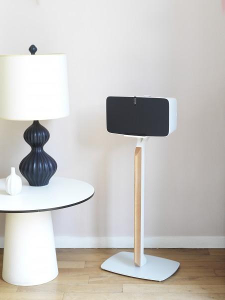 Standfuß Premium für Sonos PLAY:5 Weiß/Eiche