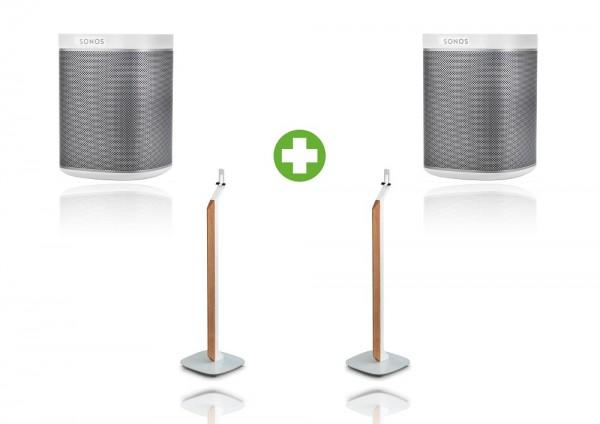 Sonos PLAY:1 Premium Standpaket weiß