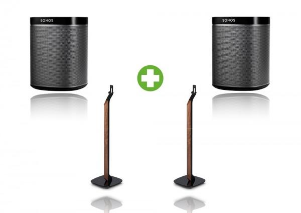 Sonos PLAY:1 Premium Standpaket schwarz