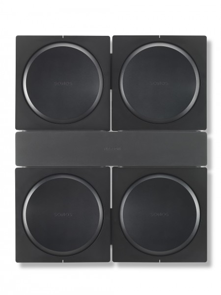 Wandhalterung für 4 Sonos Amp