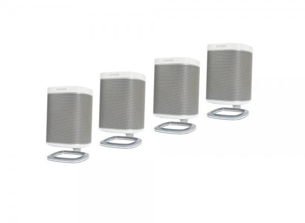 DeskStand für Sonos PLAY:1 Weiß 4er Pack