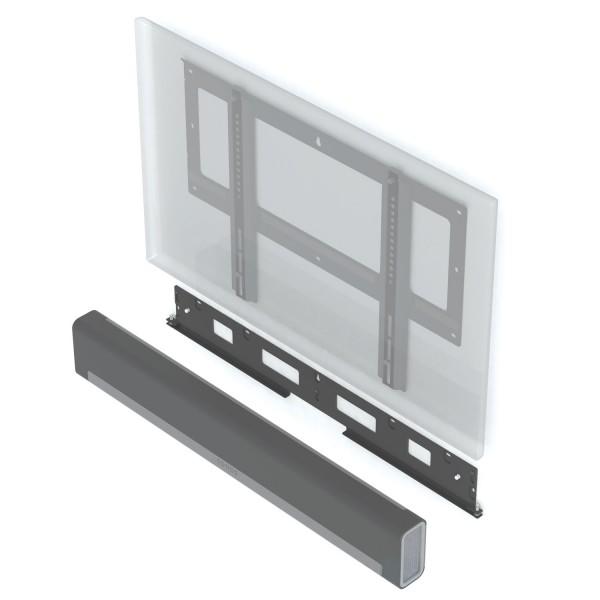 PLAYBAR & TV-Halterung flach an der Wand