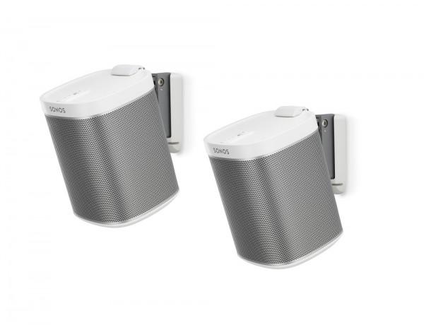 Wandhalter für Sonos PLAY:1 Paar weiß