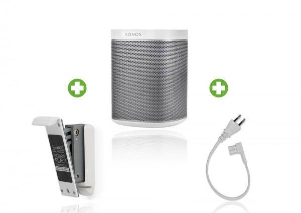 Sonos PLAY:1 Wandpaket weiß