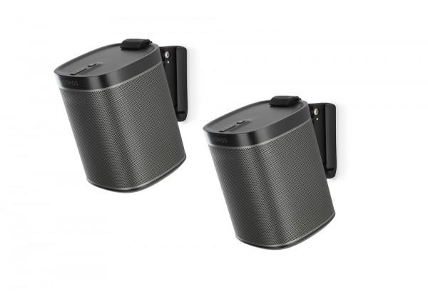 Wandhalter für Sonos PLAY:1 Paar schwarz